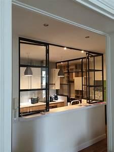 Petite Verrière Intérieure : cr ation d 39 une cuisine avec verri re ~ Zukunftsfamilie.com Idées de Décoration
