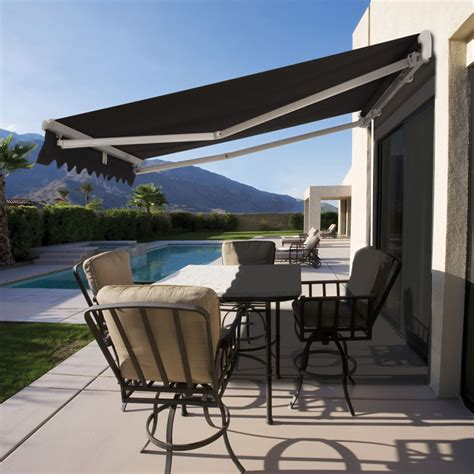 retractable folding arm awning  budget awning