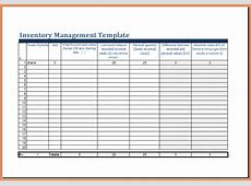 inventory control management template with count sheet