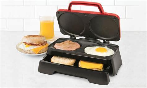 Nostalgia BS20RD Breakfast Sandwich Maker   Groupon