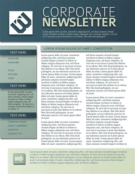newsletter template 9 free business newsletters templates