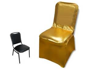 lam 233 spandex banquet chair cover metallic gold efavormart