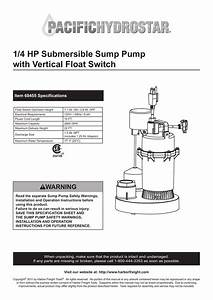 Sump Pump Float Adjustment Diagram