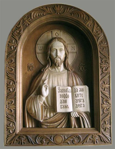 christ  saviour high relief wood carving materials
