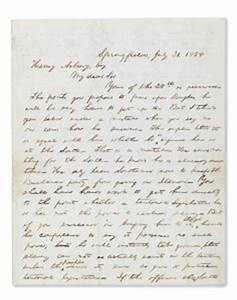 abraham lincoln letter about slavery could sell for With abraham lincoln letter for sale