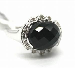 exceptional 14karat white gold onyx ring onyx