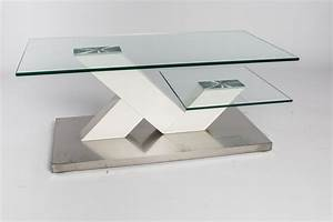 Table Basse Blanche Et Verre : table basse de salon design en verre design en image ~ Teatrodelosmanantiales.com Idées de Décoration
