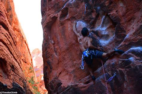 The Black Corridor Climbing Red Rock