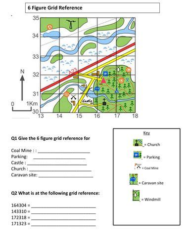 6 figure grid reference worksheet by msflynn teaching