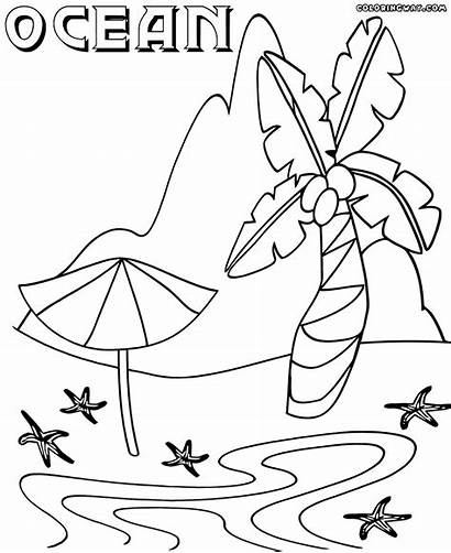 Ocean Coloring Pages Island Nature