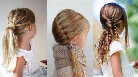 petite fille  coiffures attachees faciles pour lecole
