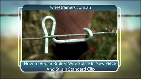 How To Repair Broken Wire Splice New Piece And Restrain