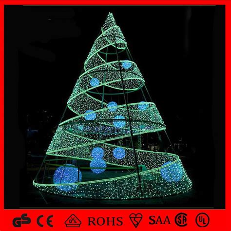 china giant outdoor  commercial led spiral christmas