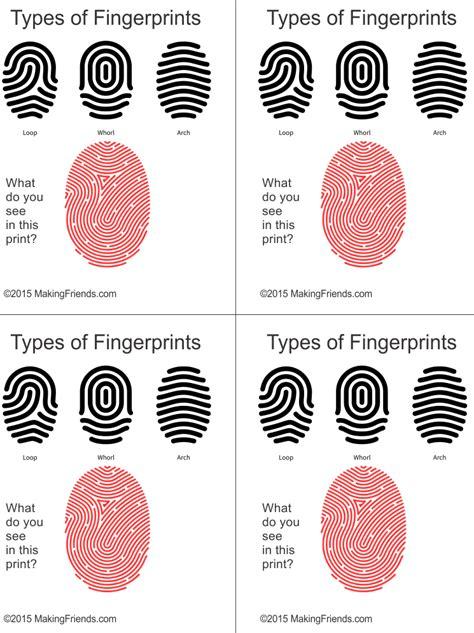 printable fingerprint types  detective clue game
