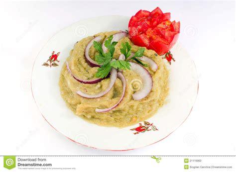 aubergine cuisine salade d 39 aubergine cuisine roumaine image stock image