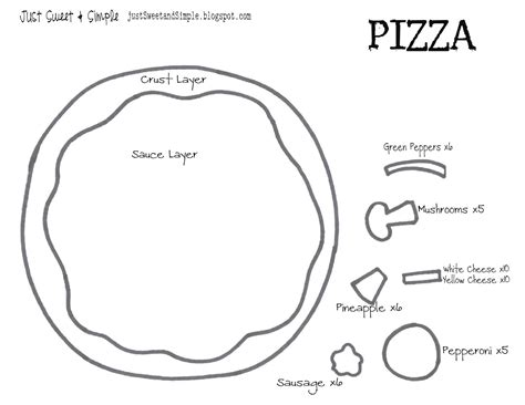 pizza template just sweet and simple busy book