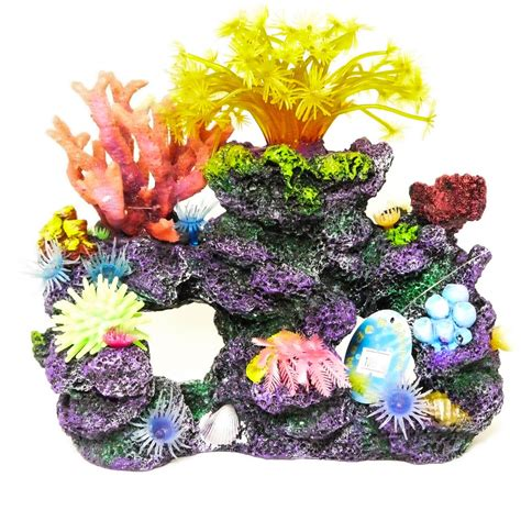 large aquarium ornaments uk realistic artificial aquarium coral reef large polyp