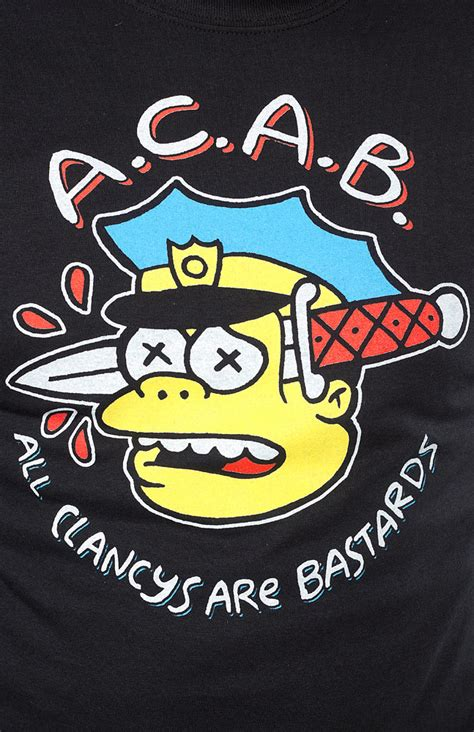 thrillhaus acab t shirt sourpuss clothing