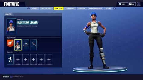 blue team leader fortnite outfit skin