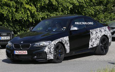 spyshots bmw m2 coupe is broad at the