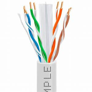 Cat6 Bulk Ethernet  Lan Cable 23awg Cca 550mhz 1000feet White