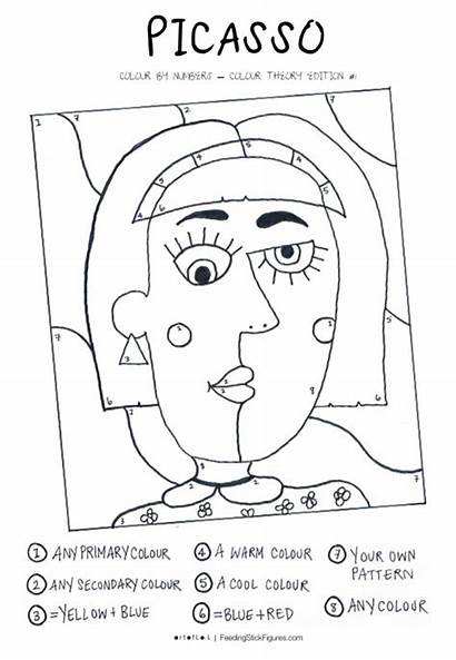 Picasso Colour Numbers Printable Sheet Theory Activity