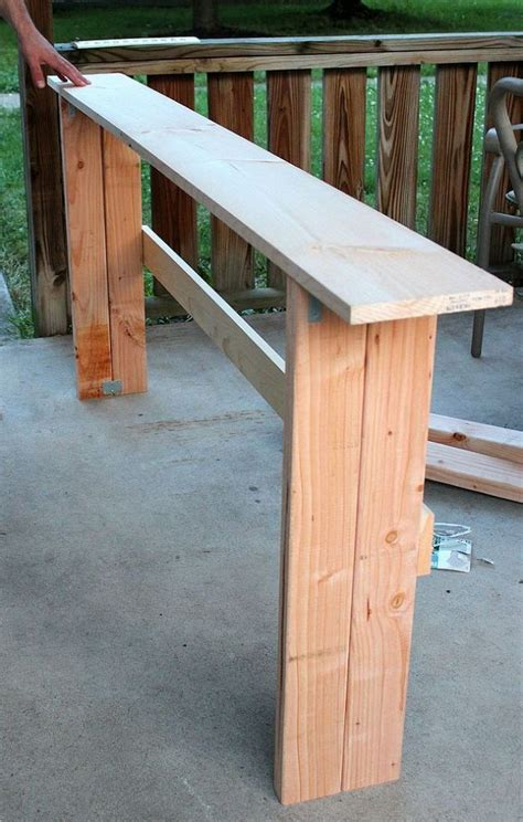 build a sofa table simple diy sofa table tutorial clutter tables and tutorials