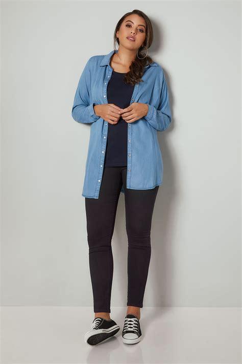Black Skinny Stretch Ava Jeans Plus Size