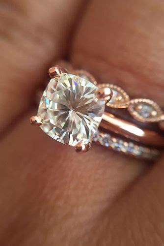 popular rose gold engagementwedding rings worth