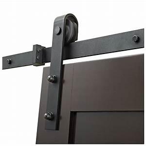 rail pour porte coulissante barn noir rona With porte de garage et systà me coulissant pour porte