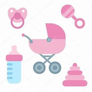 newborn baby items — Stock Vector © Sudowoodo #78728302
