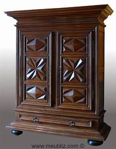 armoire louis xiii a pointe de diamant ancien meuble With meuble louis xiii