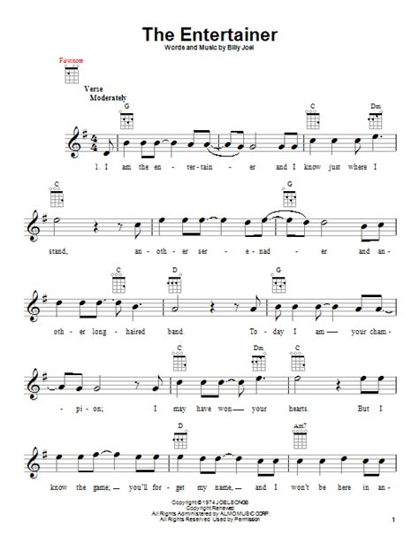 The rithm and the melody are the same as the original, but i simplified a. The Entertainer | Sheet Music Direct