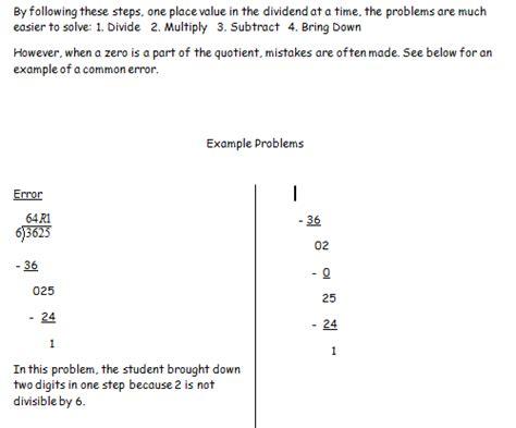 division worksheets  zeros zeros   quotient