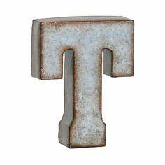 large galvanized metal letter t living room wish list With kirklands wall letters