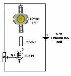 usb li ion battery charger circuit auto cut off and With watt led driver circuit using a single 15 cell homemade circuit