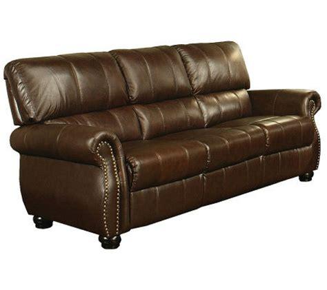 abbyson living leather sofa abbyson living lorenzo italian leather sofa qvc com