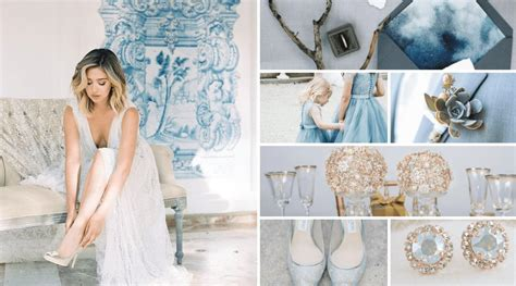 Dusty Blue Wedding Inspiration Totally Dazzled