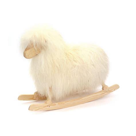 mouton maison du monde mouton 224 bascule blanc crafts jeux jouets loisirs enfant smallable