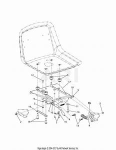 Troy Bilt 17af2acp011 Mustang Rzt 50  2008  Parts Diagram For Seat Adjustment