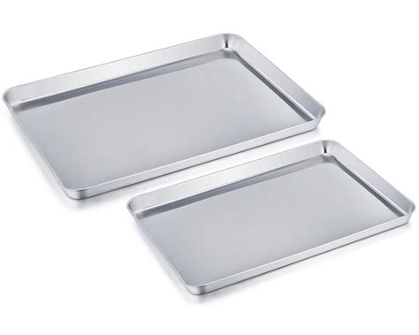 baking sheet stainless steel pan dishwasher professional safe non toxic rust clean cookie teamfar healthy mirror easy finish tray pure