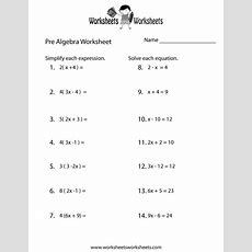 Prealgebra Review Worksheet  Free Printable Educational Worksheet