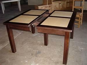 Table Bois Metal Avec Rallonge : table carree avec rallonge pas cher ~ Teatrodelosmanantiales.com Idées de Décoration