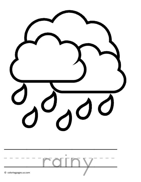 Raining Preschool Coloring Pages Free Printable Online