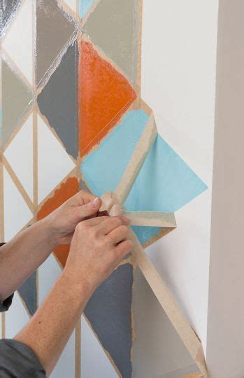 idee deco aux murs la peinture coloree  graphique