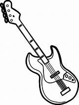 Guitar Coloring Printable Mycoloring sketch template