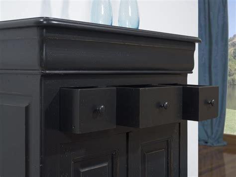 chambre chene petit buffet 2 portes 4 tiroirs timothy en chêne massif de