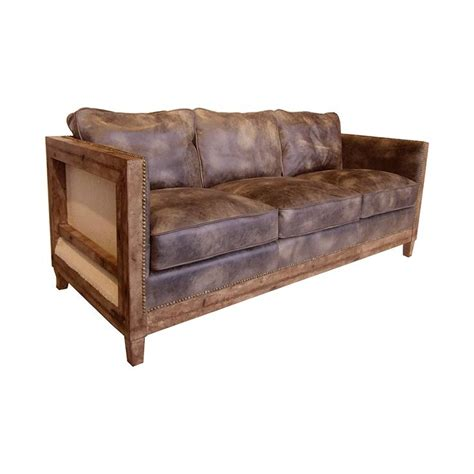 rustic brown leather sofa rustic and relaxed this camden sofa in light brown is a