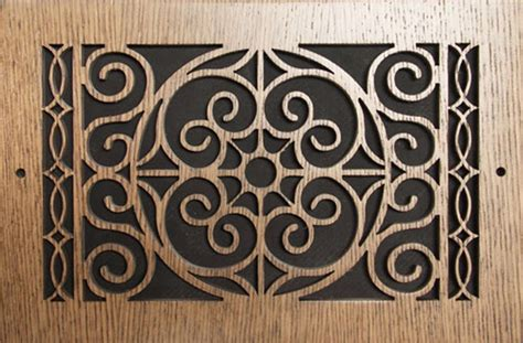 Find sidewall registers and ceiling register covers including round registers. Decorative Wall Air Return Vent Covers : Fence and Gate ...