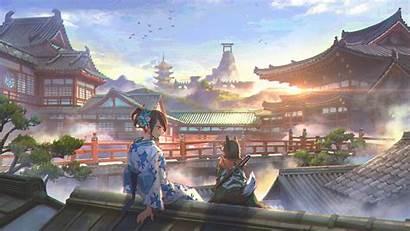 Anime Japan Dog Houses Kimono Wallhaven Background